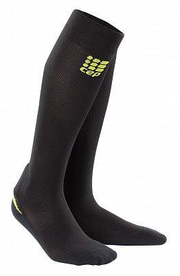 Ponožky CEP Podkolenky s podporou achilovky pánské černá / zelená