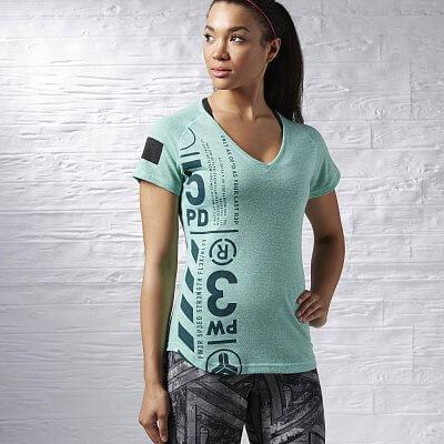 Dámské fitness tričko Reebok One Series Triblend Vneck Tee