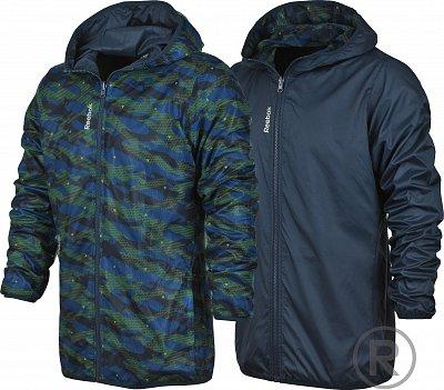 Pánská sportovní bunda Reebok Workout Ready Reversible Printed Woven Jacket