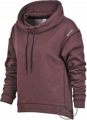 Dámská fitness mikina Reebok Sport Essentials Fleece Woven Mix Funnel Hood