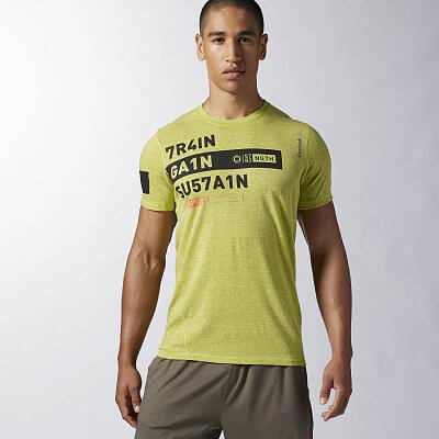 Pánské fitness tričko Reebok One Series Train.Gain Triblend SS Top