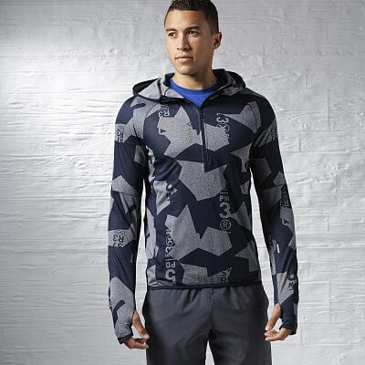 Reebok One Series Jacquard Quarter Zip Hoody