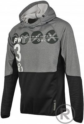 Pánská fitness mikina Reebok One Series Fleece Pullover Hood