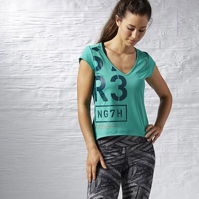 Reebok One Series V Neck SS Top
