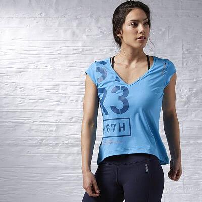 Dámské fitness tričko Reebok One Series V Neck SS Top