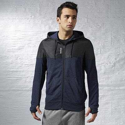 Reebok Sport Essentials Fabric Mix Full Zip