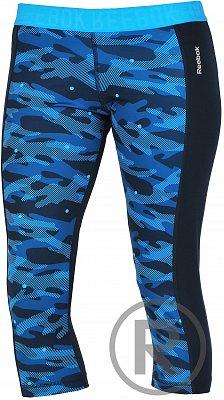 Dámské fitness kalhoty Reebok Workout Ready Printed Capri
