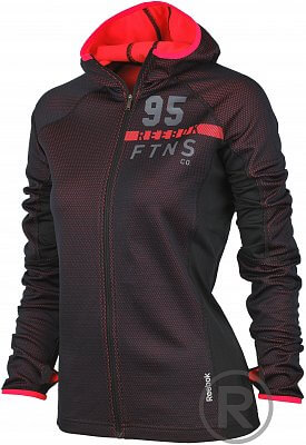 Dámská fitness mikina Reebok Workout Ready Premium Hex FullZip Fleece