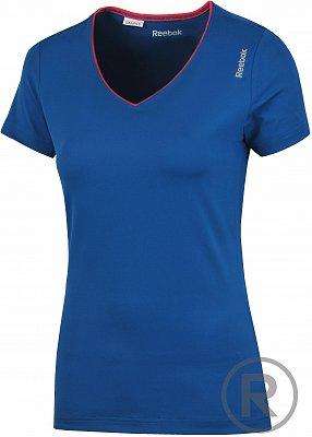 Dámské fitness tričko Reebok Sport Essentials PlayDry V Neck Tee