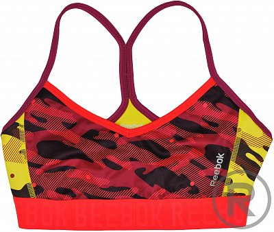 Reebok Workout Ready Short Bra with All Over Print