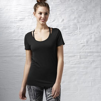 Dámské fitness tričko Reebok Sport Essentials Seamless Short Sleeve Top