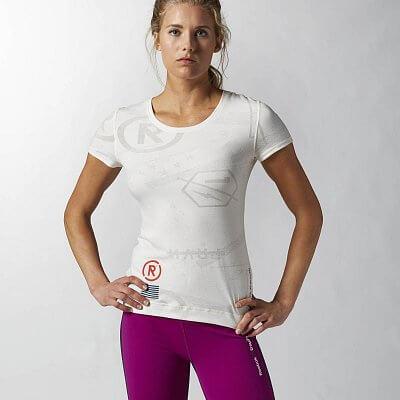 Dámské fitness tričko Reebok CF Burnout Shortsleeve