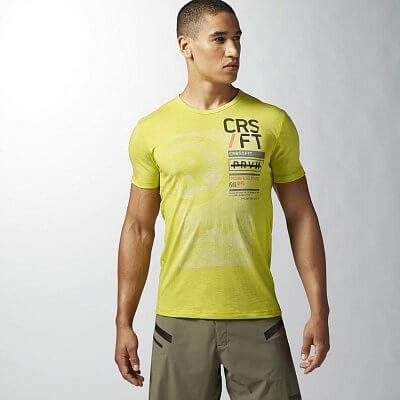 Pánské fitness tričko Reebok RCF BURNOUT TEE