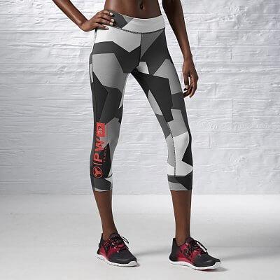 Dámské fitness kalhoty Reebok One Series Stripe Advantage Nylux Capri F