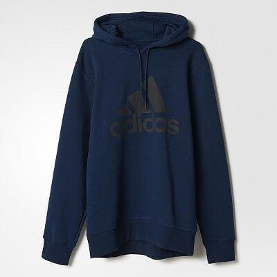 Pánská běžecká mikina adidas Sport Essentials Logo Hoodie Fleece