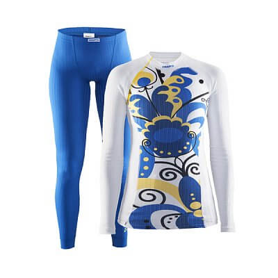 Trička Craft W Set Extreme Falun modro-bílá