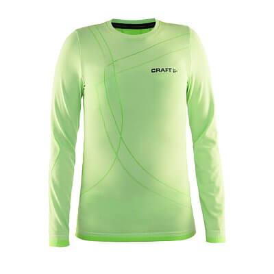 Trička Craft Triko Active Comfort LS zelená