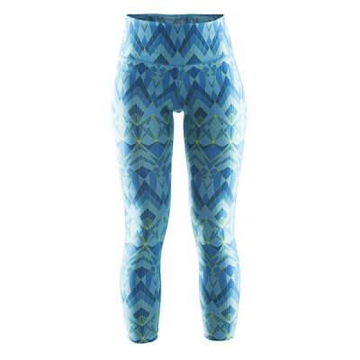 Kalhoty Craft W Kalhoty Pure Print 7/8 světle modrá