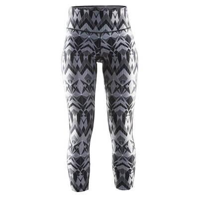 Kalhoty Craft W Kalhoty Pure Print 7/8 černá