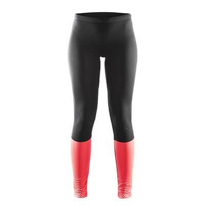 Kalhoty Craft W Kalhoty Brilliant Thermal černá s růžovou