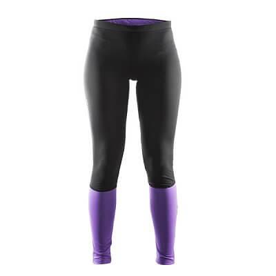 Kalhoty Craft W Kalhoty Defense Thermal černá s fialovou