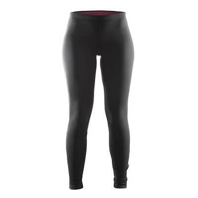 Kalhoty Craft W Kalhoty Defense Thermal černá s červenou