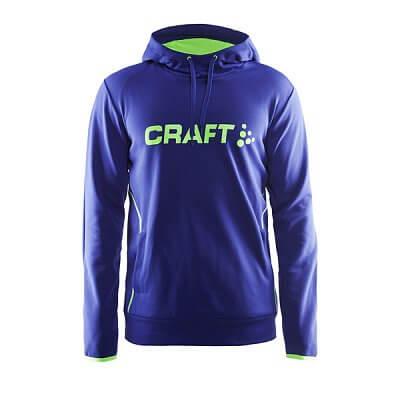 Mikiny Craft Mikina Logo Hood modrá