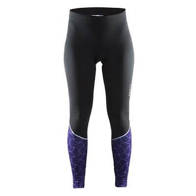 Kalhoty Craft W Cyklokalhoty Move Thermal černá s fialovou