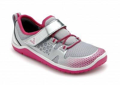 Dětská běžecká obuv Vivobarefoot TRAIL FREAK K Silver/Pink