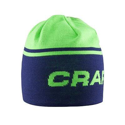 Čepice Craft Čepice Logo modrá se zelenou