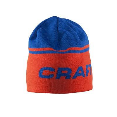Čepice Craft Čepice Logo oranžová s modrou