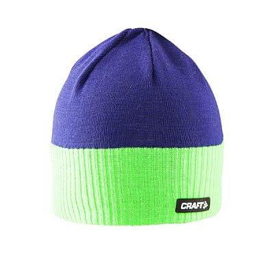Čepice Craft Čepice Bormio modrá se zelenou