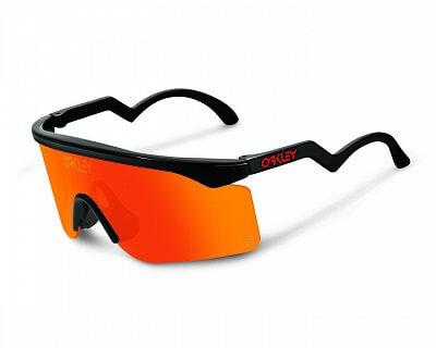 Oakley Razor Blades Black w/ Fire