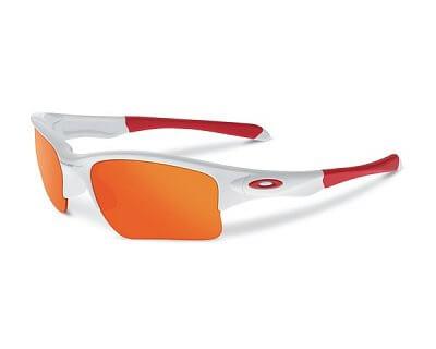 Sluneční brýle Oakley Quarter Jacket Pol White w/ Fire Irid
