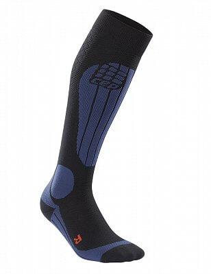 Ponožky CEP Lyžařské termo podkolenky dámské II černá / tmavě modrá