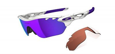 Sluneční brýle Oakley Radarlock Edge Polished White Womens/ Violet Iridium Vented & Vr28 Vented