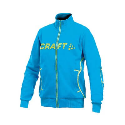 Mikiny Craft Mikina Flex FZ Junior světle modrá