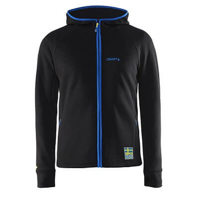 Mikiny Craft Mikina Ski Team Logo Warm Hood černá