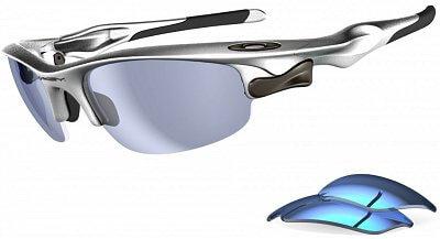 Sluneční brýle Oakley Fast Jacket Silver/ Blue Iridium/ Jade Iridium