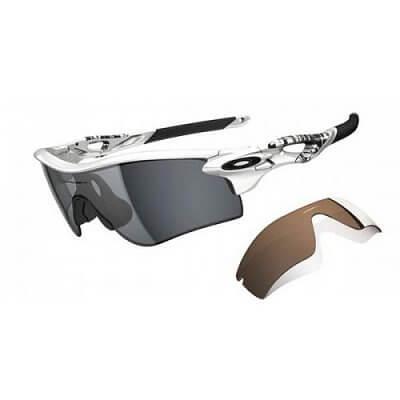 Sluneční brýle Oakley Radarlock Matte White/ Grey Polarized