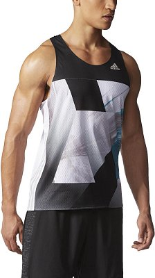Pánské běžecké tílko adidas adizero Singlet M