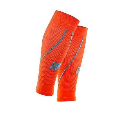 Kompresní návleky CEP lýtkové návleky pánské tmavě oranžová / havajská modř