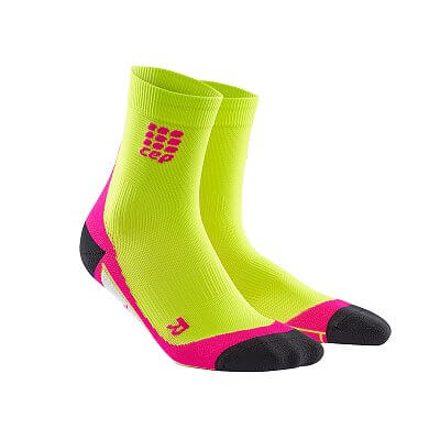 Ponožky CEP Krátké ponožky dámské limetková / růžová