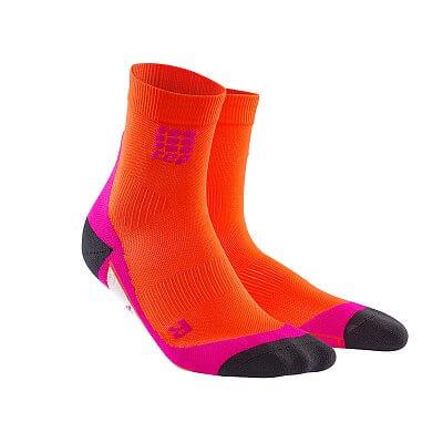 CEP Krátké ponožky dámské tmavě oranžová / růžová