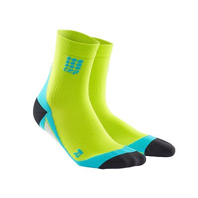 Ponožky CEP Krátké ponožky pánské limetková / havajská modř