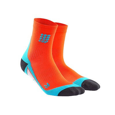 Ponožky CEP Krátké ponožky pánské tmavě oranžová / havajská modř