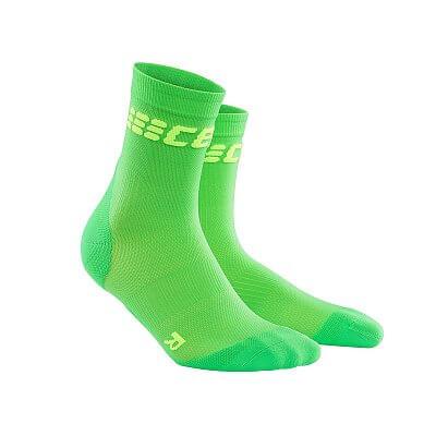 Ponožky CEP Krátké ponožky ultralight dámské viper / zelená
