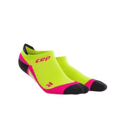 Ponožky CEP Nízké ponožky dámské limetková / růžová