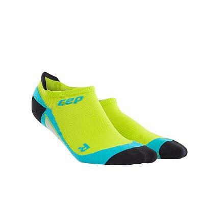 Ponožky CEP Nízké ponožky pánské limetková / havajská modř
