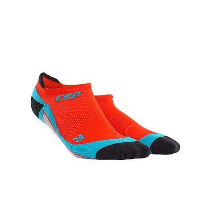 Ponožky CEP Nízké ponožky pánské tmavě oranžová / havajská modř
